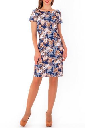 Платье S&A style. Цвет: сине-бежевый