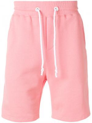 Спортивные шорты с полосками по бокам Gcds. Цвет: розовый и фиолетовый