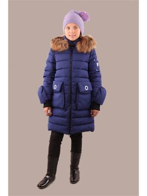 Пальто Fobs. Цвет: синий
