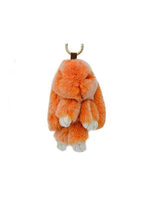 Брелок Miss Bijou. Цвет: оранжевый, белый, золотистый