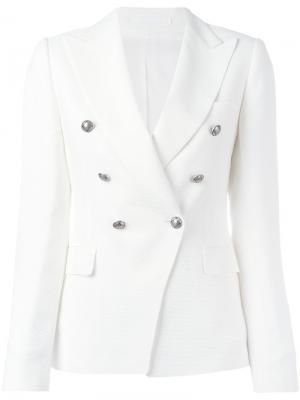 Jalicya double-breasted jacket Tagliatore. Цвет: белый