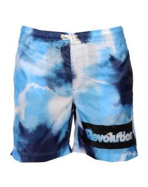Пляжные брюки и шорты DANIELE ALESSANDRINI HOMME. Цвет: лазурный