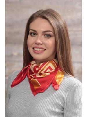 Платок FOMAS. Цвет: бордовый, горчичный
