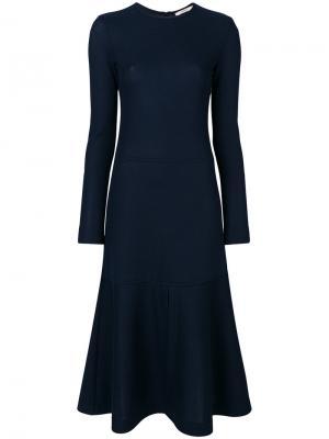 Расклешенное платье Odeeh. Цвет: синий