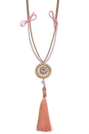 Колье Boho Chic. Цвет: розовый, золотой