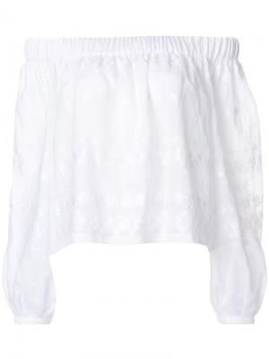 Блузка с открытыми плечами Vita Kin. Цвет: белый