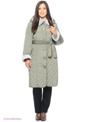 Стеганое пальто Emi Filini. Цвет: светло-зеленый