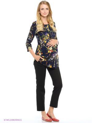 Блузка для беременных и кормящих FEST. Цвет: синий, желтый