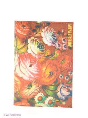 Обложка для паспорта Mitya Veselkov. Цвет: терракотовый