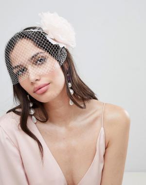ASOS Броская повязка на голову с цветочным принтом DESIGN. Цвет: мульти