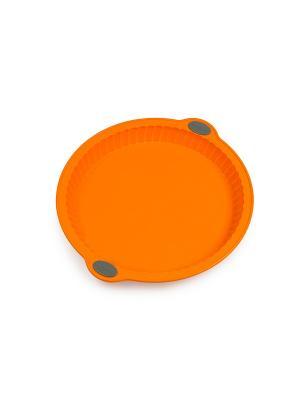 Форма для пирога из силикона на металлическом каркасе OURSSON. Цвет: оранжевый