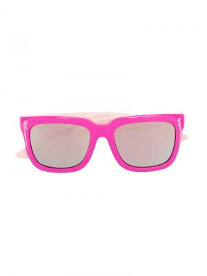 Солнцезащитные очки в квадратной оправе Stella Mccartney Kids. Цвет: розовый и фиолетовый