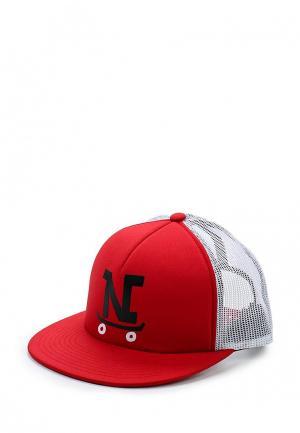 Бейсболка Nixon. Цвет: красный