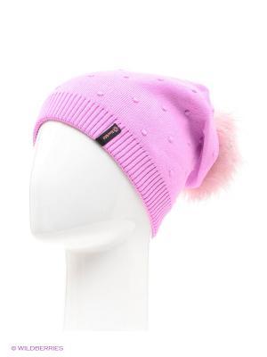 Шишка Беркле шапка женская с помпоном Berkle. Цвет: розовый