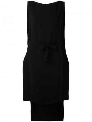 Платье с асимметричным подолом Gareth Pugh. Цвет: чёрный