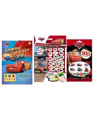 Комплект для мальчиков (наклейки, раскраски, игры) Disney. Цвет: синий, зеленый, оранжевый