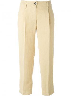 Классические брюки Forte. Цвет: телесный