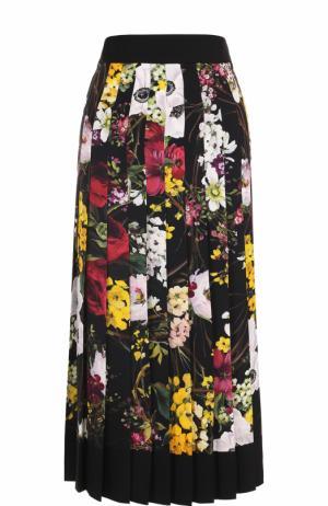 Плиссированная юбка-миди с принтом Dolce & Gabbana. Цвет: разноцветный