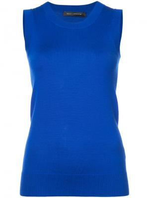 Fitted vest top Sally Lapointe. Цвет: синий