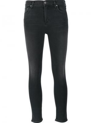 Укороченные джинсы средней посадки Citizens Of Humanity. Цвет: серый