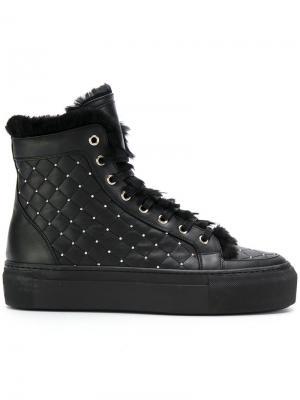 Стеганые ботинки на шнуровке Le Silla. Цвет: чёрный