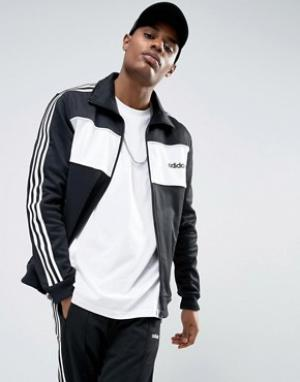 Adidas Originals Черная спортивная куртка колор блок London Pack BQ936. Цвет: черный