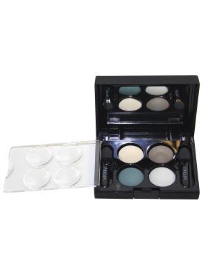 Тени для век КватроQuattro Eyeshadow Mat 641, 2,4г NOUBA. Цвет: зеленый, коричневый, бежевый, белый