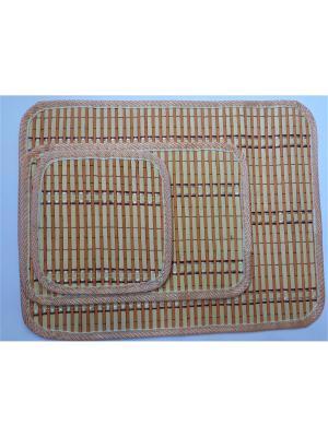 Набор плейсматов из бамбука, 3 предметов Dream time. Цвет: бежевый,оранжевый