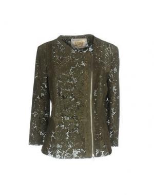 Куртка VINTAGE DE LUXE. Цвет: зеленый-милитари