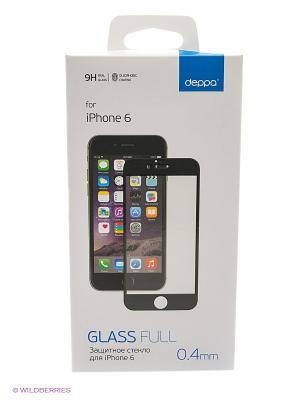 Защитное стекло для iPhone 6 Deppa. Цвет: прозрачный