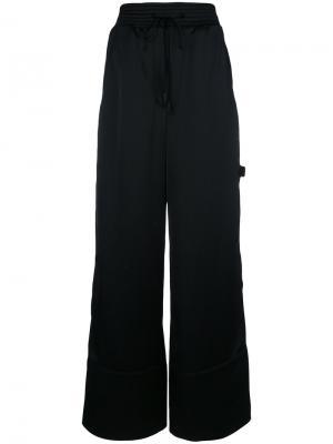 Широкие брюки с завязкой Off-White. Цвет: чёрный