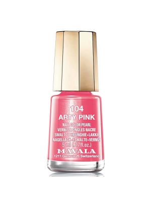 Лак для ногтей тон 104 Arty Pink Mavala. Цвет: розовый