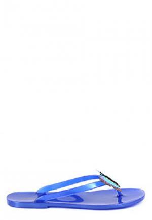 Сланцы MENGHI SHOES. Цвет: синий