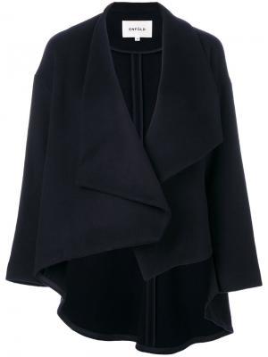 Пальто с асимметричным краем Enföld. Цвет: синий