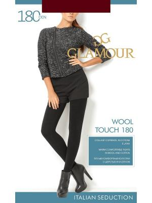 Колготки женские Wool Touch 180 chocolate Glamour. Цвет: темно-коричневый