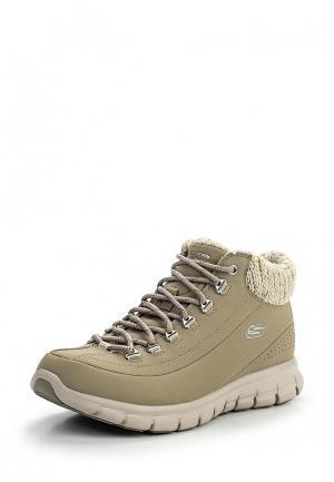 Ботинки трекинговые Skechers. Цвет: бежевый