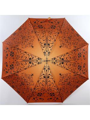 Зонт Zest, 3 слож, ПолнАвто, П-Э Zest. Цвет: черный, темно-коричневый