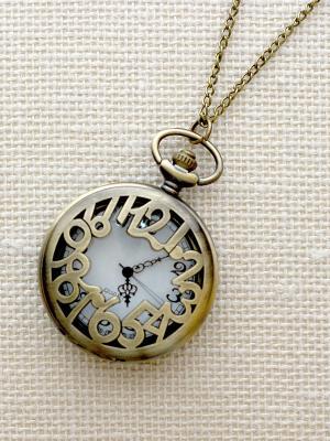 Кулон-часы Циферки (большой) Mitya Veselkov. Цвет: бронзовый