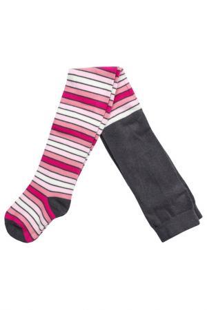 Колготки PlayToday. Цвет: серый, розовый, светло-розовый