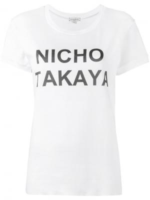 Футболка Nicho Takaya Natasha Zinko. Цвет: белый