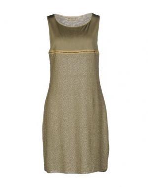 Короткое платье APPARTAMENTO 50. Цвет: зеленый-милитари
