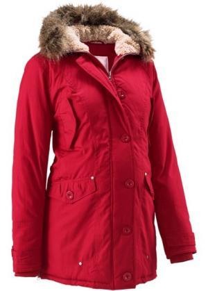 Мода для беременных: куртка с капюшоном (темно-красный) bonprix. Цвет: темно-красный
