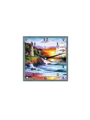 Настенные часы Маяк 25х25 В94 PROFFI. Цвет: белый, зеленый, коричневый, голубой, светло-коричневый, фиолетовый, оранжевый