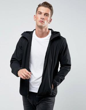 Abercrombie & Fitch Черная легкая нейлоновая куртка с капюшоном. Цвет: черный