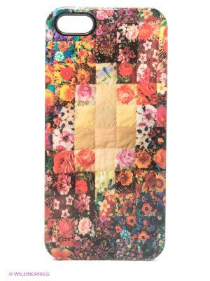 Чехол для iPhone 5/5s Patch-work Kawaii Factory. Цвет: розовый, бежевый
