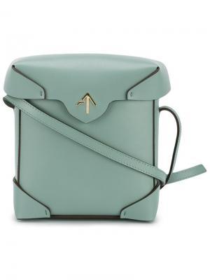 Мини сумка на плечо Pristine Manu Atelier. Цвет: зелёный