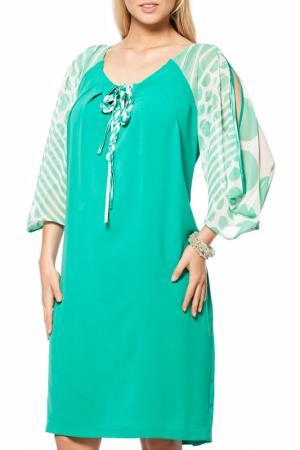 Платье GRAND POMMES. Цвет: зеленый