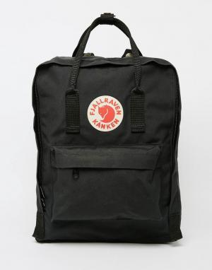 Fjallraven Черный рюкзак Kanken. Цвет: черный