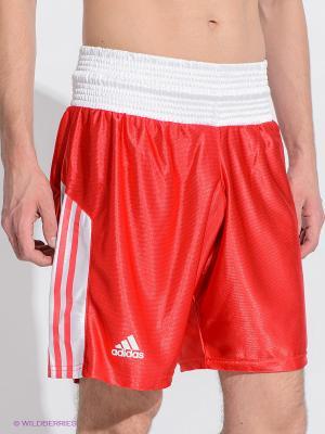 Шорты боксерские Amateur Boxing Shorts Adidas. Цвет: красный, белый