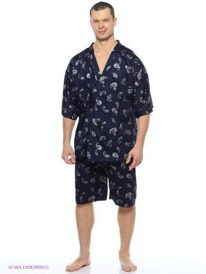 Пижама Maori. Цвет: темно-синий, серебристый